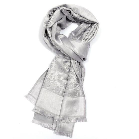 pashmina in silver