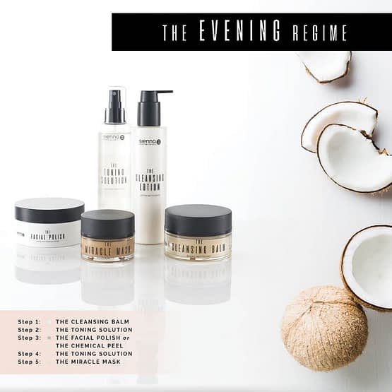The saver bundle. Sienna X. The image shows multiple products in white and clear bottles/jars with black lids.