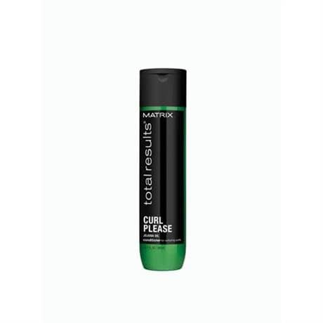 curl please conditioner bottle green with black label and black cap